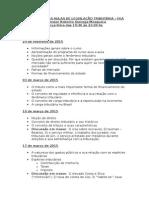 Programa Das Aulas de Legislação Tributária – Fea