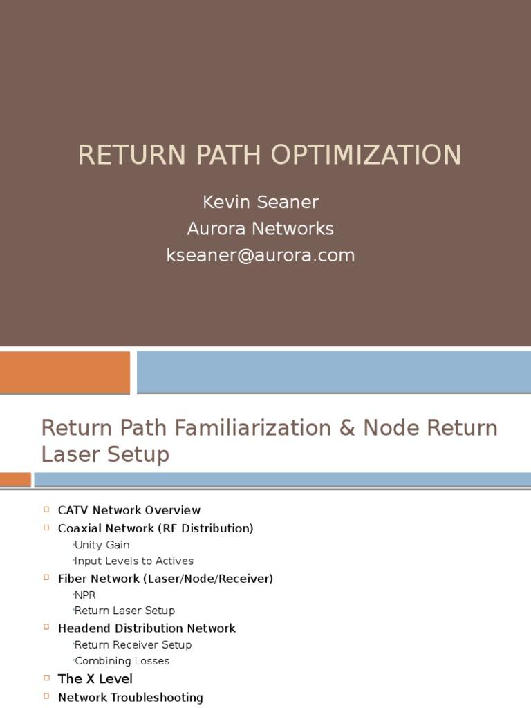 Return Path Optimization | Broadcasting | Telecommunications