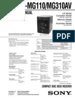 Sony Hcd-mg110 Mg310av Ver-1.3