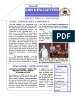 Quezonian Newsletter March 2007