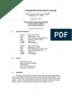 Radar Data Impact Speed Study--AA11, UA175