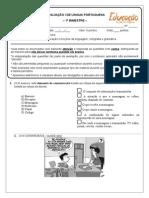 Avaliação Língua Portuguesa (Ensino Médio - 1º Bimestre)