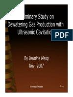 Dewatering Cavitation