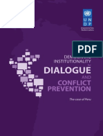 Democratic institutionality for dialogue and conflict prevention. The case of Perú
