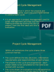 1 - Project Cycle Management