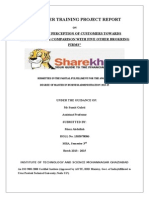 A STUDY OF PERCEPTION OF CUSTOMERS TOWARDS  SHAREKHAN AND COMPARISON WITH FIVE OTHER BROKRING FIRMS.docx