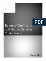Report of the Health and Human Services Strike Force