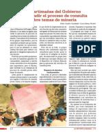 Las artimañas del Gobierno para evadir el proceso de consulta  sobre temas de minería
