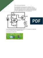 Amplificador de Audio de 3 Volt de Alimentación