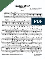 Peter Porten - Harlem Street - 1956 - Foxtrot - Band Sheet Music