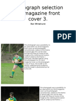 Photographs for Magazine Front Cover 3
