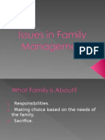Issues in Family Management