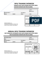 Annual RIfle Training Data Book (M27)