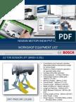 Bosch WS Equipment