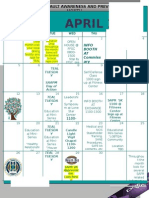 SAPR Events 2015 Calendar