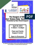 Danger of SIDS - Shaken Baby Class Flyer
