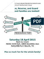 Resource Fair Flyer 2015