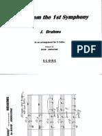 Arr Johnstone BRAHMS Theme 1st Symphony SCORE (1)