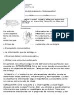 Planificación de Texto Informativo Sexto b