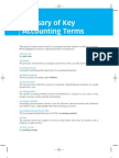Glossary of Key Accounting Terms This Glossary Contains Most Of