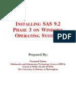 Install SAS v92