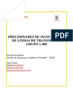 1-400 Preliminares de Manutenção de Linhas de Transmissão_rev 2013