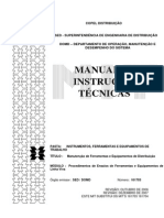 MIT 161703-Procedimentos de Ensaios de Ferramentas e Equipamentos de Linha Viva