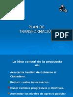 Plan de Transformación
