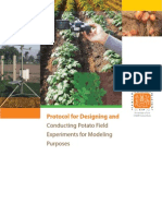 Protocol for Designing and Conducting Potato Field Experiments for Modeling Purposes