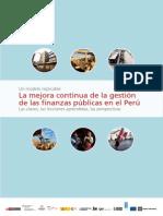 La mejora continua de la gestión de las finanzas públicas en el Perú