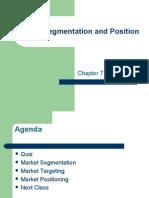Market Segmentation and Position