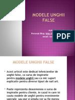 Modele unghii false-step by step (romana)