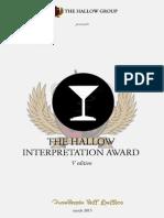 The Hallow Interpretation Award 2015