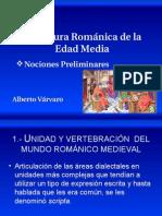 Literatura Románica de La Edad Media