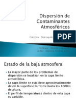 Dispersion de Contaminantes Atmosfericos