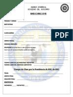 Agenda Dominical Sociedad de Socorro