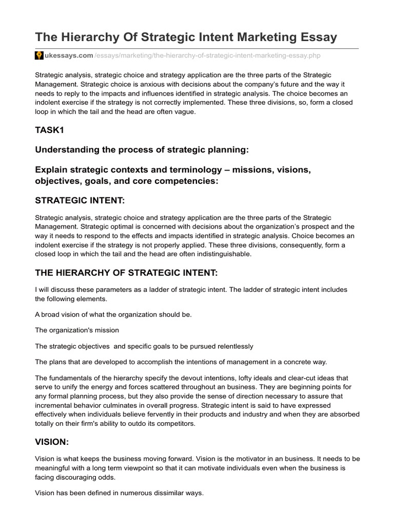 identify strategic issues essay example Includes a useful free strategic the purpose of the macro environment analysis is to identify possible take on issues a current example is a shift.
