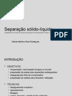 Cap 2 Separação Solido Liquido