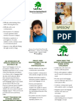 speech language services brochure