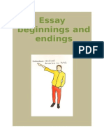 Essay Beginnings and Endings