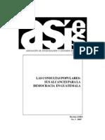 LAs Consultas Populares. Sus Alcances Para La Democ... ASIES
