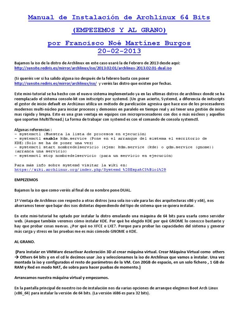 Manual de Instalación de ArchLinux 25   title   sunsite rediris