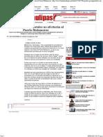 29-03-15 Reajustes presupuestales no afectarán al puerto matamoros