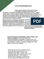 DATOS CURIOSOS ASTRONOMICOS