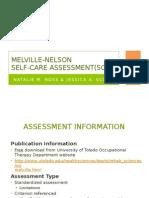 melville-nelson self-care assessment-2