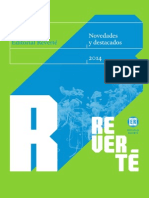 Catalogo Reverte Editores Novedades