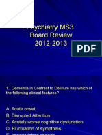 2012-13 Psychiatry Board Review