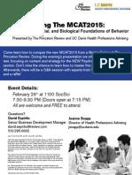 Demystifying the MCAT2015