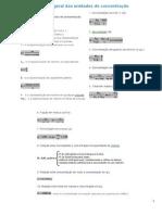 Resumo Formulas Concentração de Soluções