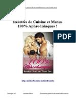 Recettes de Cuisine et Menus 100% Aphrodisiaques